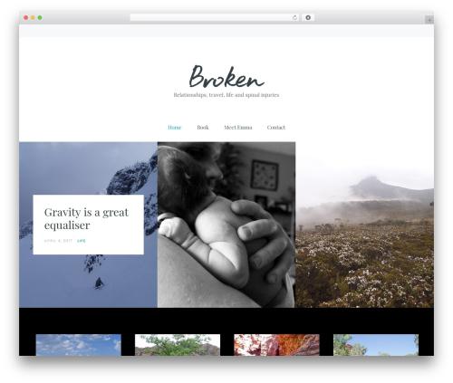 broken WordPress travel theme - broken-ekwhite.com