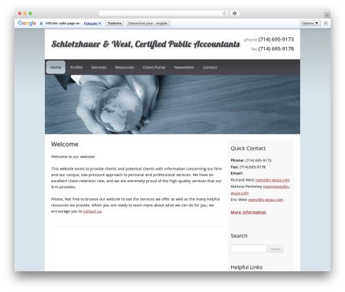 Customized best WordPress template - s-wcpa.com