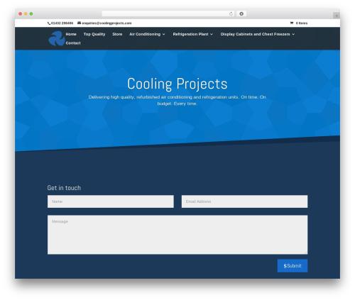 Divi WordPress theme - coolingprojects.com