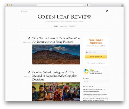 Elemin best WordPress template - greenleapreview.com