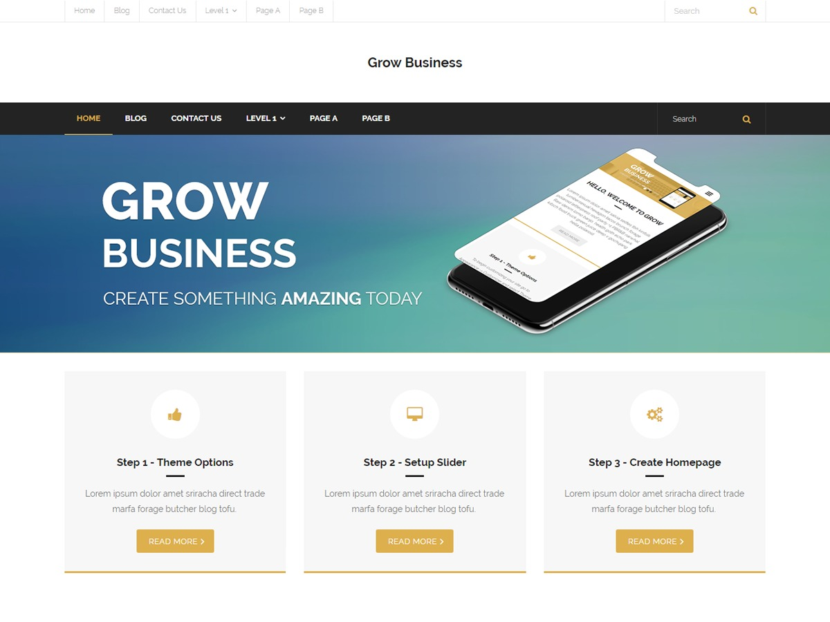 Grow Business WordPress theme image
