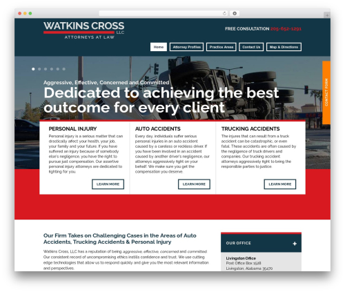 Project X v15 business WordPress theme - watkinscross.com