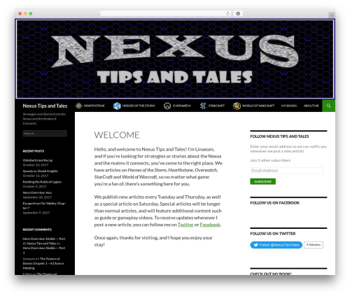 Twenty Fourteen WordPress theme download - nexustipsandtales.com