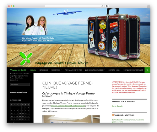Twenty Fourteen WordPress theme - voyageensante.com