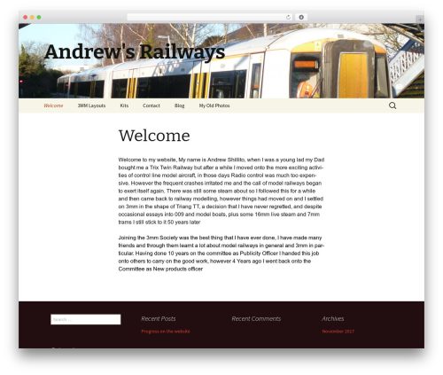 Twenty Thirteen best WordPress theme - andrewsrailways.com