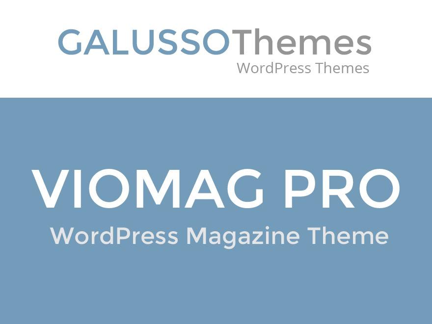 VioMag Pro WordPress blog template