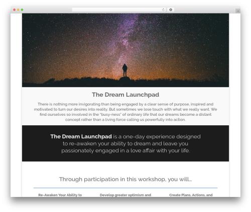 WordPress theme Divi - dreamlaunchpad.com