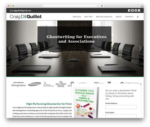 Best WordPress theme X - craigdguillot.com