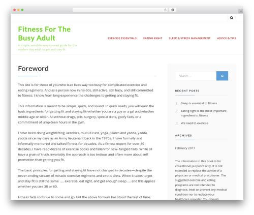 Cell free website theme - fitnessforthebusyadult.com