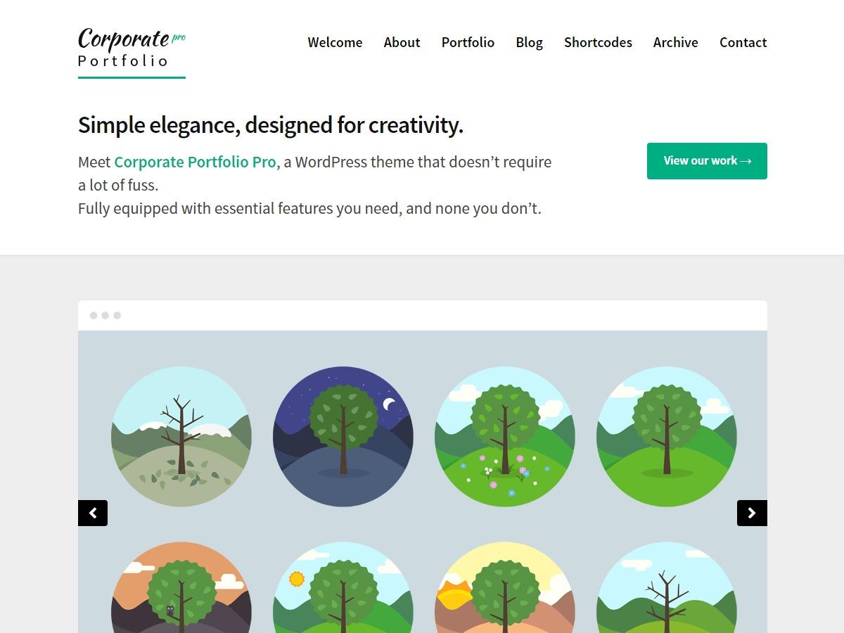 Corporate Portfolio Pro WordPress portfolio theme