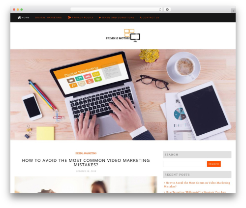 Di Blog business WordPress theme - primo10motori.com