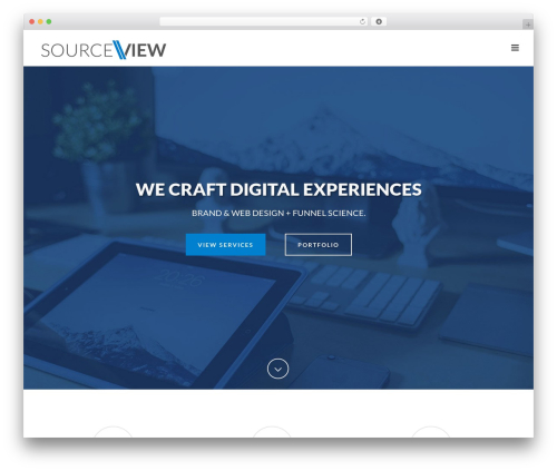 Jupiter WordPress website template - sourceview.com