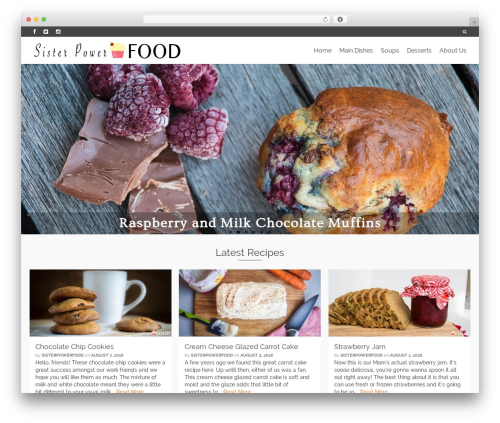 Pinnacle theme WordPress free - sisterpowerfood.com