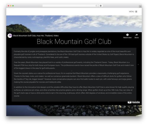 Themify Fullpane WordPress theme - blackmountaingolfclub.com