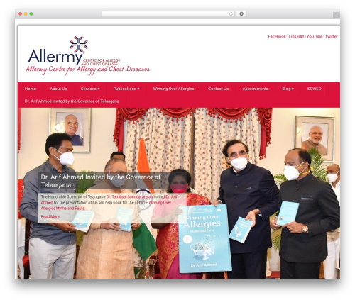 WordPress theme Health-Center-Lite - allermy.com