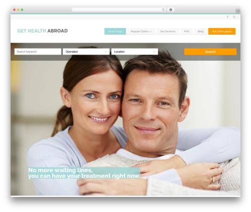 WordPress website template BusinessFinder+ - gethealthabroad.com