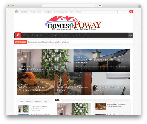 Best WordPress template Sahifa (shared on wplocker.com) - homes-in-poway.com
