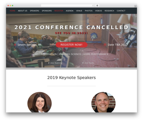 Conference Child Theme best WordPress template - healthybuildingssummit.com
