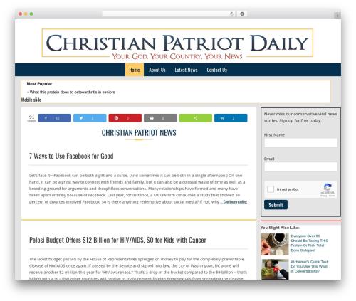 Customized WordPress news theme - christianpatriotdaily.com