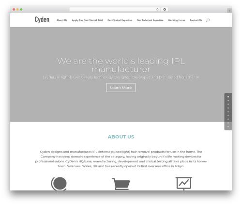 Divi best WordPress theme - cyden.com