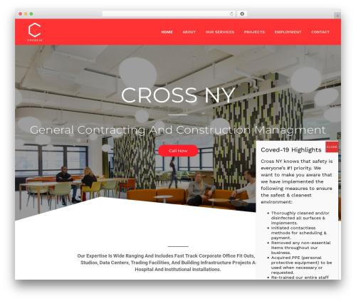 Jupiter WordPress theme - crossny.com