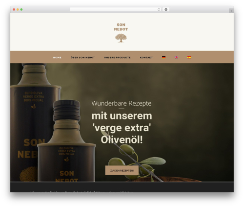 OliveOil WordPress ecommerce template - finca-son-nebot.com