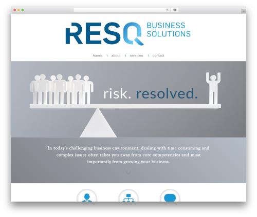 Responsive free WordPress theme - resqbiz.com