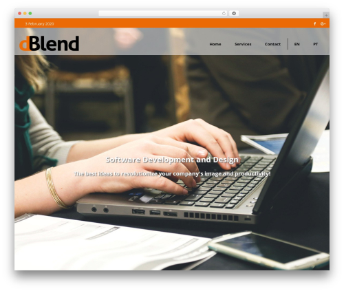 Skylar WordPress theme - dblendstudio.com