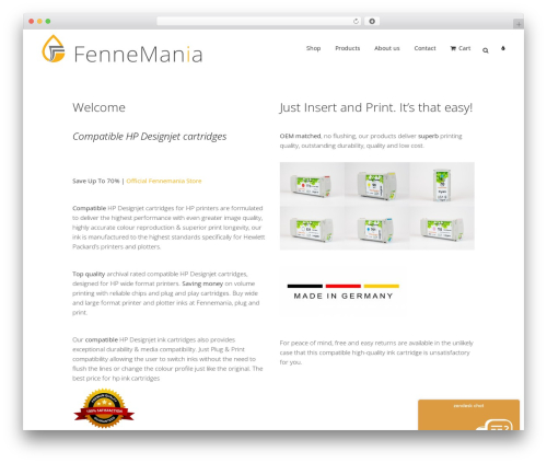 WordPress theme Bridge - fennemania.com