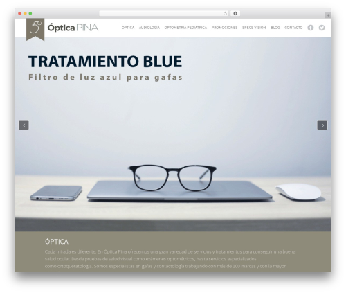WordPress theme Xenia - opticapina.com