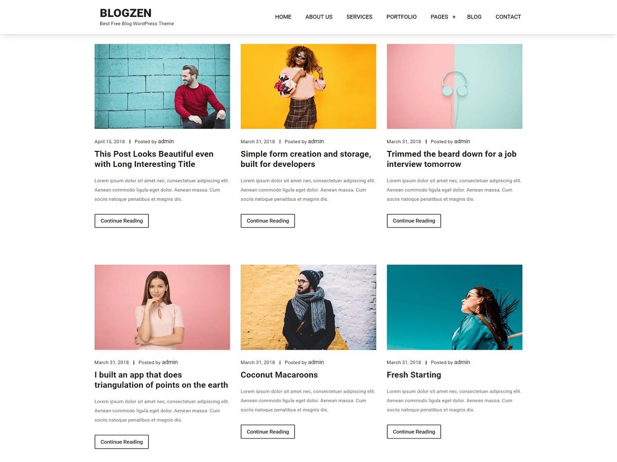 Blogzen best WordPress magazine theme