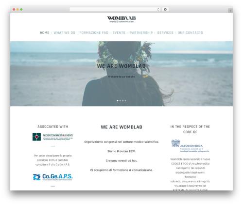 Bridge WordPress theme design - womblab.com