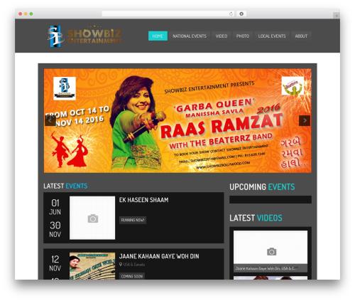 Clubber (Share On Theme123.Net) WordPress theme - showbizbollywood.com