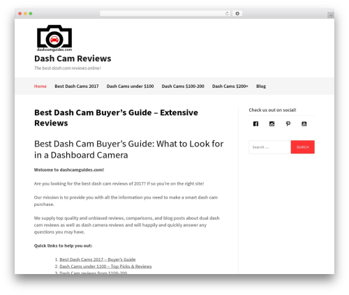 Gatsby WordPress theme - dashcamguides.com