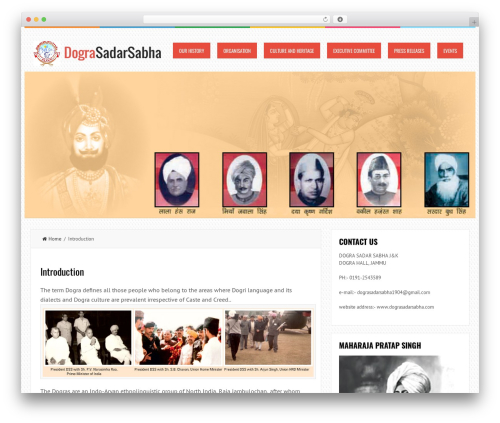 LiveBlog free WordPress theme - dograsadarsabha.com