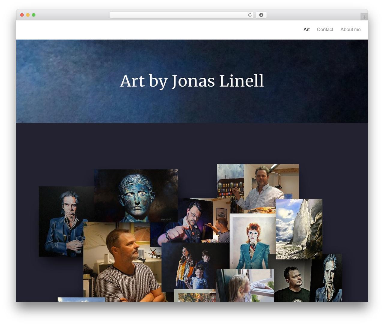 Oren free WordPress theme - jonaslinell.com