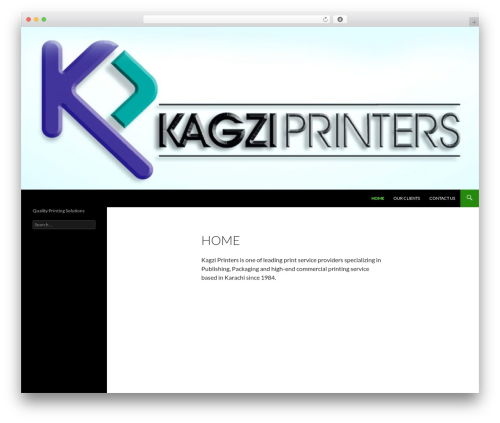 Twenty Fourteen WordPress theme - kagziprinters.com