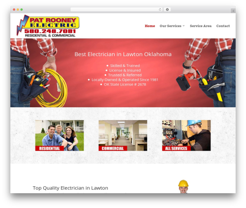 WordPress template Divi - rooneyelectric.com