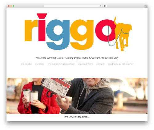 WordPress website template Cherry Framework - riggopro.com