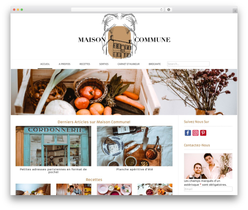 WP theme Conica - maison-commune.com
