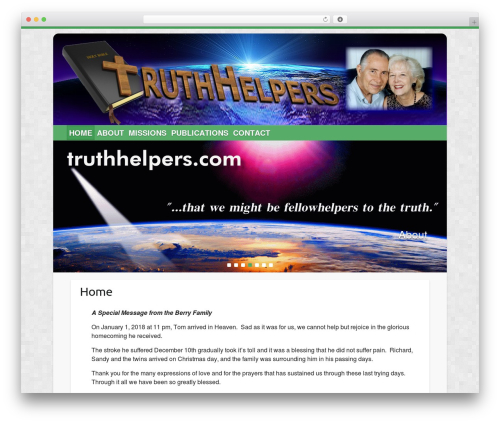 WP theme Travelify - truthhelpers.com