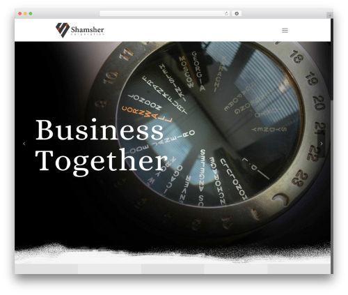 Betheme WordPress page template - shamsher-corporation.com
