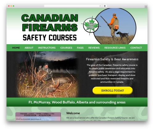 Canadian Firearms Safety template WordPress - canadianfirearmsafety.com
