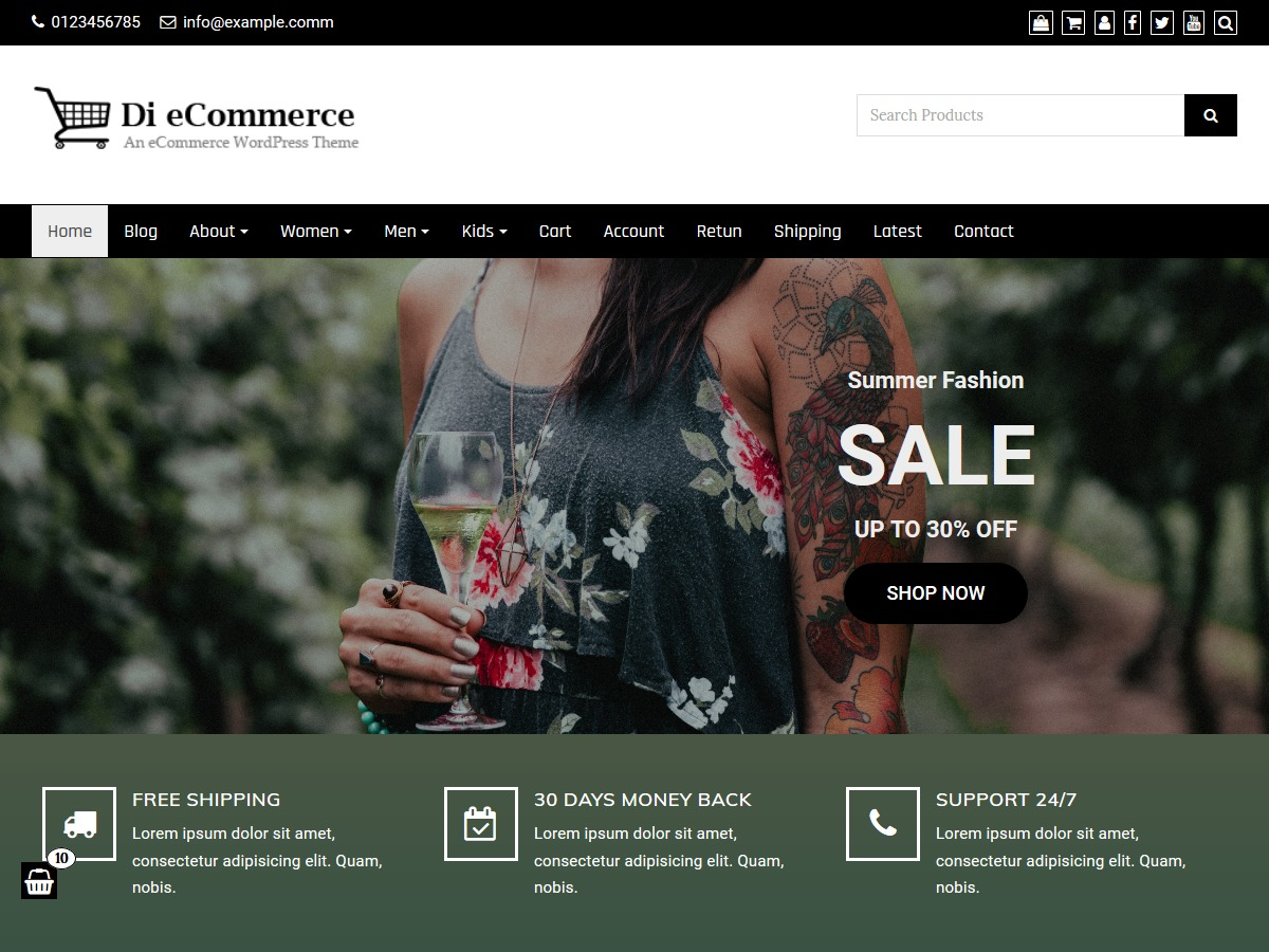 Di eCommerce WordPress store theme