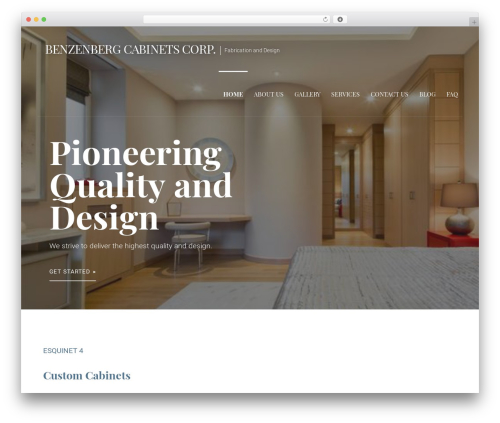 Primer free WP theme - benzenbergcabinets.com