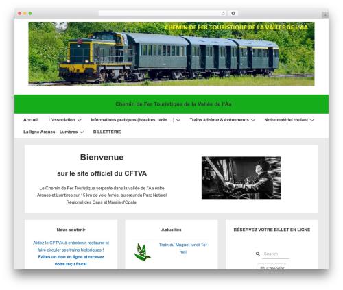 Responsive WordPress template - cftva62.com