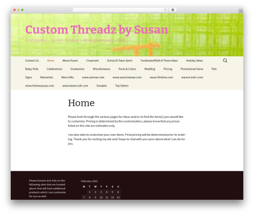 Theme WordPress Twenty Thirteen - customthreadzbysusan.com
