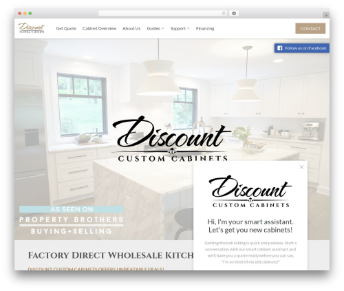 WordPress theme dcc - discountcustomcabinets.com