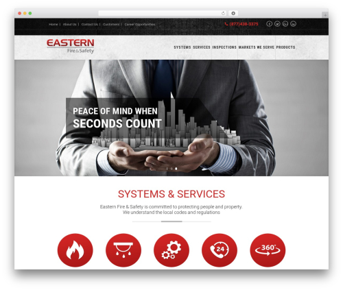 WordPress theme Knoxweb - easternfiresafety.com