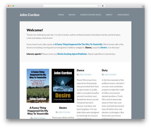 Author Pro WordPress theme - johncordonbooks.com